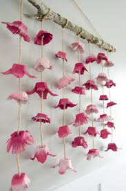 Chic DIY Boho Flower Wall Hanging Made From Old Egg Cartons Easy To Make And
