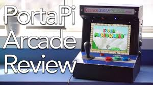 Raspberry Pi Arcade Cabinet Kit Uk by Portapi Tabletop Arcade Review Youtube