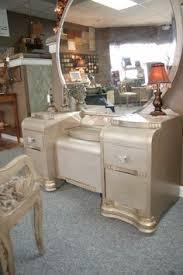 Waterfall Vanity Dresser Set by Vintage Art Deco Western Country Waterfall Vanity Low Boy Dresser