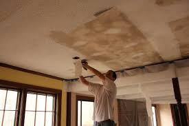 Scraping Popcorn Ceiling With Shop Vac by The Handcrafted Life How To Remove Popcorn Ceilings