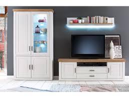 wohnwand bruneck 21 pinie weiss nb 3 teilig 326 cm wohnzimmer tv wand expendio