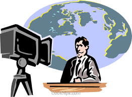 News Anchor Royalty Free Vector Clip Art Illustration Vc000616