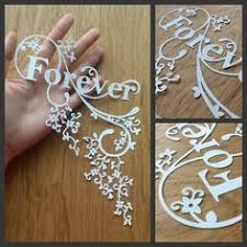 DIY Papercut Forever Design
