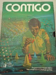 Contigo Strategy Game 70s Vintage Board In Bookcase Box