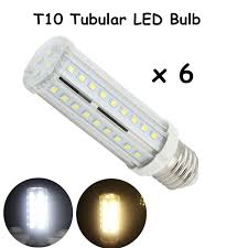 t10 tubular led bulbs with medium e26 bulb base 60w incandescent