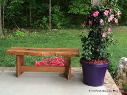 outdoor garden bench gardening ideas