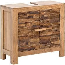 woodkings waschbeckenunterschrank holz akazie rustikal matay waschtischunterschrank massiv badmöbel badezimmer badezimmerschrank badschrank bad