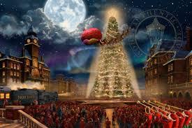 Thomas Kinkade Christmas Tree Wonderland Express by Thomas Kinkade Atlanta Georgia Thomas Kinkade Art Mark
