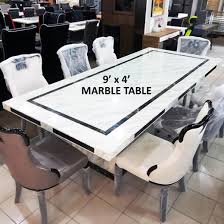 Marble Table 1 8 Chairs