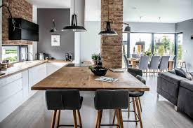 This Living Room Dining Area And Kitchen Was Designed Open Plan But The Are