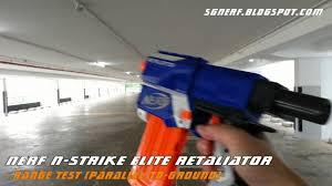 nerf n strike elite retaliator demo range test