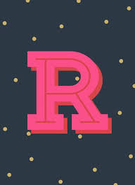 R Is For Rad Art Print By Color Theory