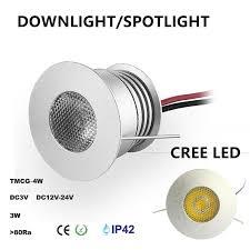 mini kitchen led cabinet light l 3w 3v 12v 24v cree