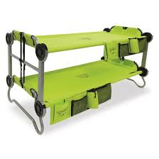 disc o bed youth kid o bunk portable bunk bed with organizers