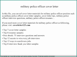 44 Cover Letter For Military Officer Position