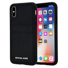 Michael Kors Saffiano Leather Pocket Case for iPhone X Verizon