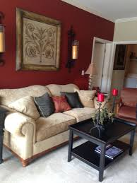 Deep Red Accent Wall And Then Doing A Beige Color Gold Accents Black