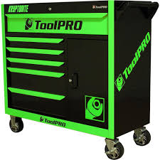 ToolPro Neon Tool Cabinet, 6 Drawer, Roller Cabinet - Kryptonite, 42 ...