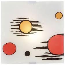 hochwertige decken leuchte 2 x e14 wand beleuchtung glas le licht eglo 87516o