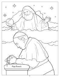 Intended For Artists Of All Ages Coloring Pope Francis Printables Is Like Yoga Clipart