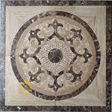 marble mosaic floor tile medallion sun design 30