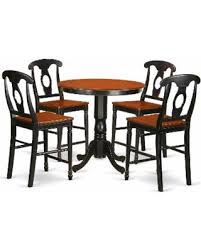 Mahogany And Oak Rubberwood Five Piece Counter Height Dining Room Set Natural