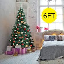 Shop Costway 6Ft PreLit Artificial PVC Christmas Tree Spruce Hinged