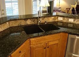 granite and tile backsplash home interior design ideas