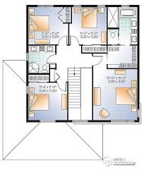 plan maison 4 chambres etage plan maison moderne 5 chambres 0 contemporaine 4 newsindo co