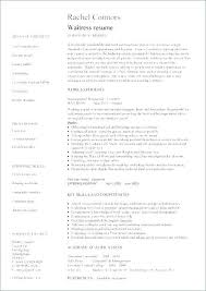 Resume Examples Restaurant Fine Dining Example Waiter Sample