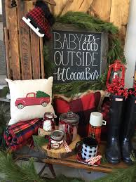 Hot Cocoa Bar From A Vintage Rustic Plaid Christmas Party On Karas Ideas