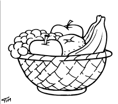 Fruit black and white bowl of fruit clipart black and white logo more