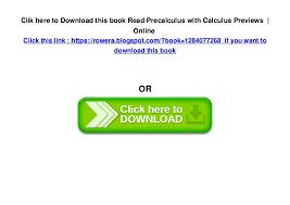 6 Clik Here To Download This Book Read Precalculus With Calculus Previews