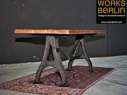 fabriktisch aus eiche massiver industrial style tisch auf