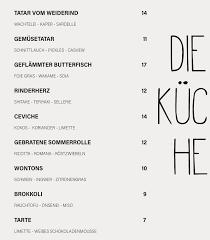 die küche esszimmer home bamberg germany menu