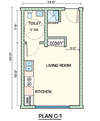 100 Small One Bedroom Apartments Apartment Plans Layout Room Efficiency Apartment Plans