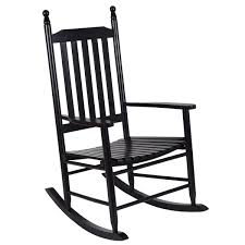 Giantex Wood Outdoor Rocking Chair, Wooden Rocking Chairs For Porch, Patio,  Living Room, Porch Rocker For Adults (Black) Durogreen Classic Rocker Black 3piece Plastic Outdoor Chat Set Presidential Recycled Wood Patio Rocking Chair By Polywood Shop Intertional Concepts Slat Seat Palm Harbor Wicker Grey At Home Trex Fniture Yacht Club Charcoal Americana Style Windsor Jefferson Woven With Tigerwood Weave Colby Cophagen Cushioned Rattan Armchair Glider Lounge Cushion Selections Chairs At Lowescom