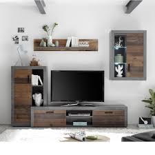89 190 v5 team wood altholz nb grau wohnwand anbauwand wohnzimmerschrank wohnverbau ca 329 cm