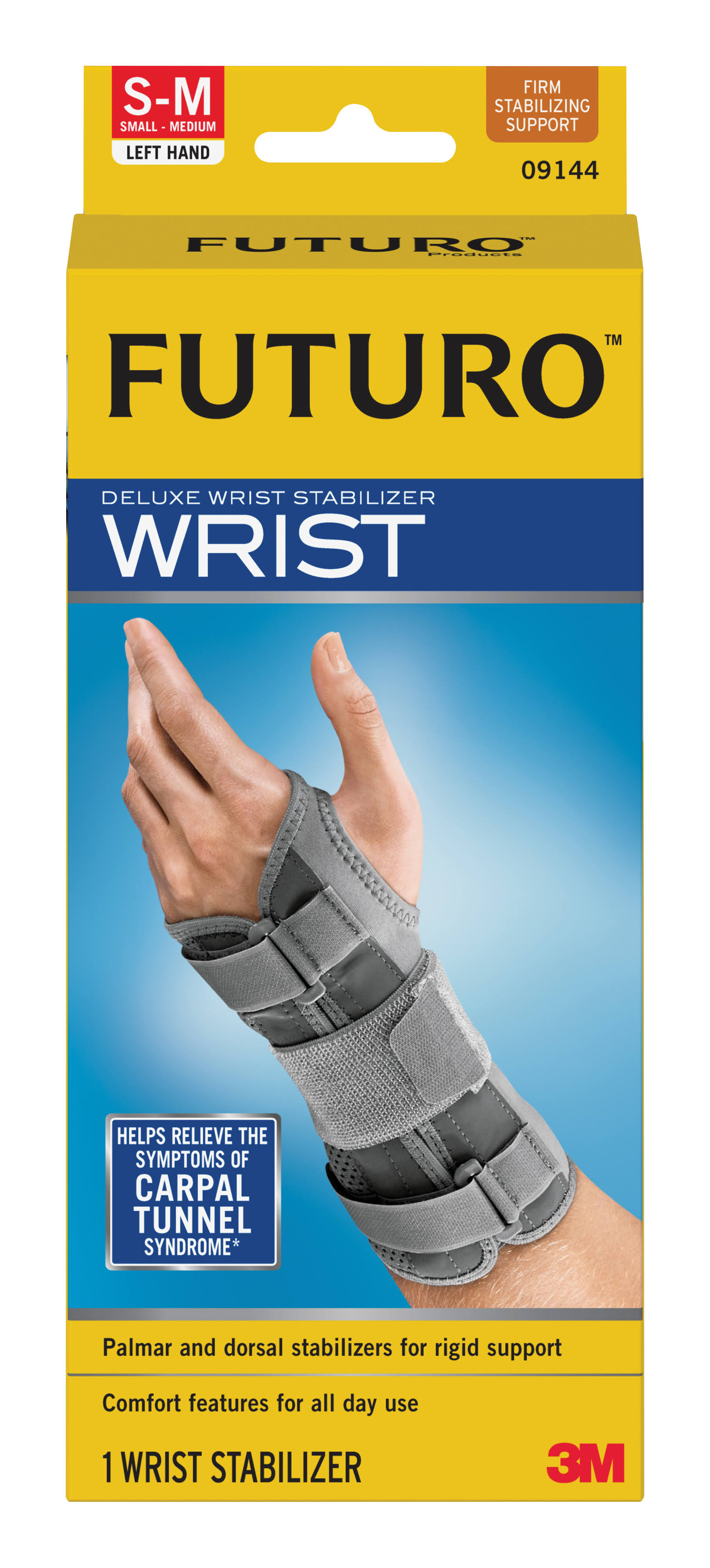 Futuro Deluxe Wrist Stabilizer - Left Hand, Small-Medium