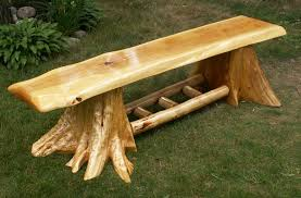 Log Stump Bench Benches