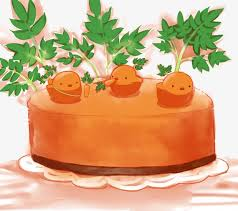 Carrot cake chick Cartoon Hand Painted Lovely Free PNG Image
