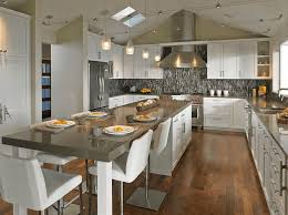long kitchen island with seating