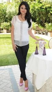 Selena Gomez Best Summer Street Style White Sheer