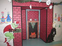 christmas classroom door decorations chimney happy holidays