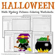 Halloween Multiplication Worksheets Coloring by Halloween Math Coloring Worksheets Addition Multiplication Etc