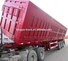100 Pink Dump Truck Hyva Hydraulic Lifting Cylinder 3axle Tipper Semi Trailer For