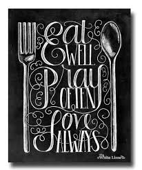 Kitchen Print Quote Sign By TheWhiteLime 1700