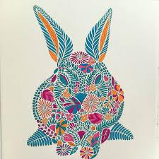 Millie Marotta Animal Kingdom Bunny Adult ColoringColoring BookColouringAnimal
