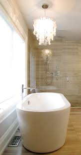 Chandelier Over Bathtub Soaking Tub by Gorgeous Freestanding Tubsin Traditional Dallas With Ravishing