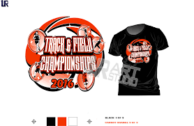 Color Seperted For Screen Printing Tshirt Logo Design Track And Field Championshipt Vector Print
